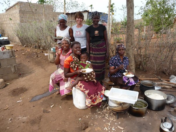 Moz with women of village
